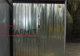 Garaż blaszany 2×3 m z blachy ocynkowanej