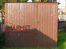 Garaż blaszany 2×3 m – brąz