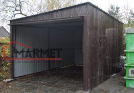 Garaż blaszany  3x 5 m + brama podnoszona