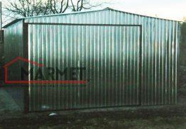 Garaż blaszany 4×6 – dwuspadowy