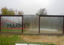 Garaż blaszany 8×5 m + dwie bramy uchylne