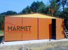 Garaż blaszany 8×6 m + dach dwuspadowy