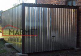 Garaż blaszany 3×5 + brama uchylna