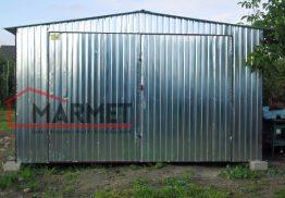 Garaż blaszany 4×6 m + dach dwuspadowy