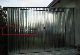Garaż blaszany 4×7 m + spad na lewo