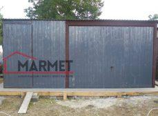Garaż blaszany 5×6 m + brama uchylna