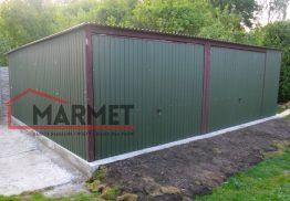 Garaż blaszany 7×6 m + dach ze spadem do tyłu