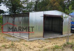 Garaż blaszany 7×6 m + brama uchylna
