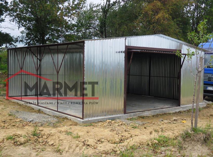 Wspaniały Garaż blaszany 7×6 m + brama uchylna   Producent garaży blaszanych BI58
