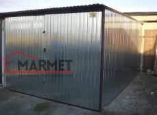 Garaż blaszany 3,5×6 m + spad na bramę