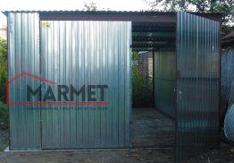 Garaż blaszany 3,5×5 m – przelotowy