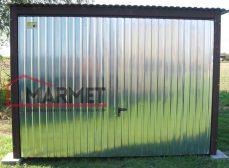 Garaż blaszany 3×5 m + podnoszona brama