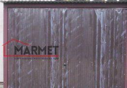 Garaż blaszany 3×5 m + podnoszona brama z przodu