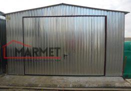 Garaż blaszany 4×5,5 m + dwuspadowy