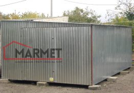Garaż blaszany 4×6 m + spad na prawo