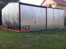 Garaż blaszany 6×4 m + dwuspadowy
