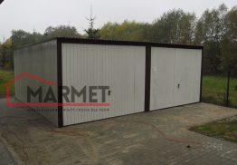 Garaż blaszany 6×5 m – standardowy