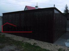 Garaż blaszany 6×6 m + spad do tyłu