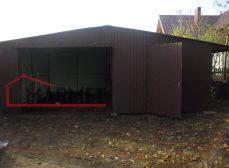 Garaż blaszany 7×5 m + zadaszenie 1 m
