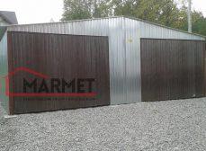 Garaż blaszany 7×6 m + ocynkowany, dwuspadowy