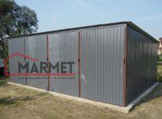Garaż blaszany 6×3 m + cztery pomieszczenia gospodarcze