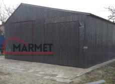 Garaż blaszany 8 x 6 metrów + konstrukcja profil zamknięty 60×40