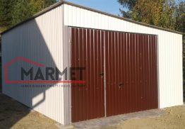 Garaż blaszany 4×5 m + brama podnoszona