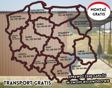 Montaż, transport – GRATIS