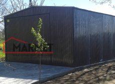Garaż blaszany 4×6 m – dwuspadowy