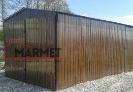 Garaż blaszany 3×5 m – dwuspadowy