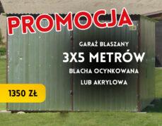 Garaż blaszany – 3×5 m – 1350 zł