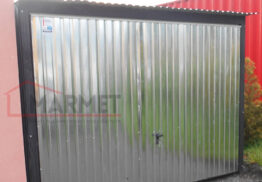 Garaż Blaszany 3×5 m – ocynk – brama uchylna