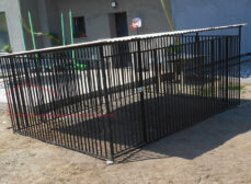 Kojec dla psa 4×3 – czarna rurka