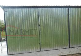 Garaż Blaszany 6×5- dwa stanowiska / ocynk