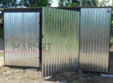 Garaż Blaszany 4×6 – brama dwuskrzydłowa / ocynk