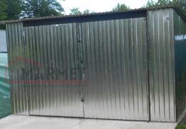 Garaż Blaszany 4×6 – brama dwuskrzydłowa